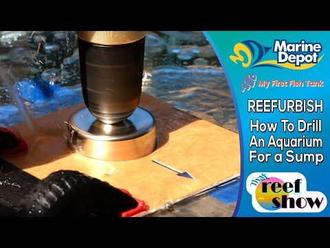 How To Drill An Aquarium: Plumbing A Sump! That Reefshow Segment, Reefurbish!