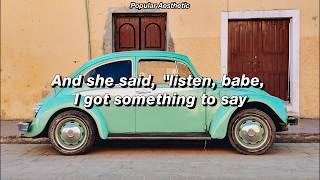 Drive My Car - Beatles (Aesthetic Lyrics)