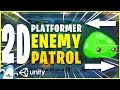 How to Make Unity 2D Enemy Patrol Movements Unity3D Tutorial