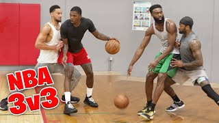 NBA All Stars Ben Simmons, Jaylen Brown, John Wall, and Joe Johnson GO OFF in 3v3