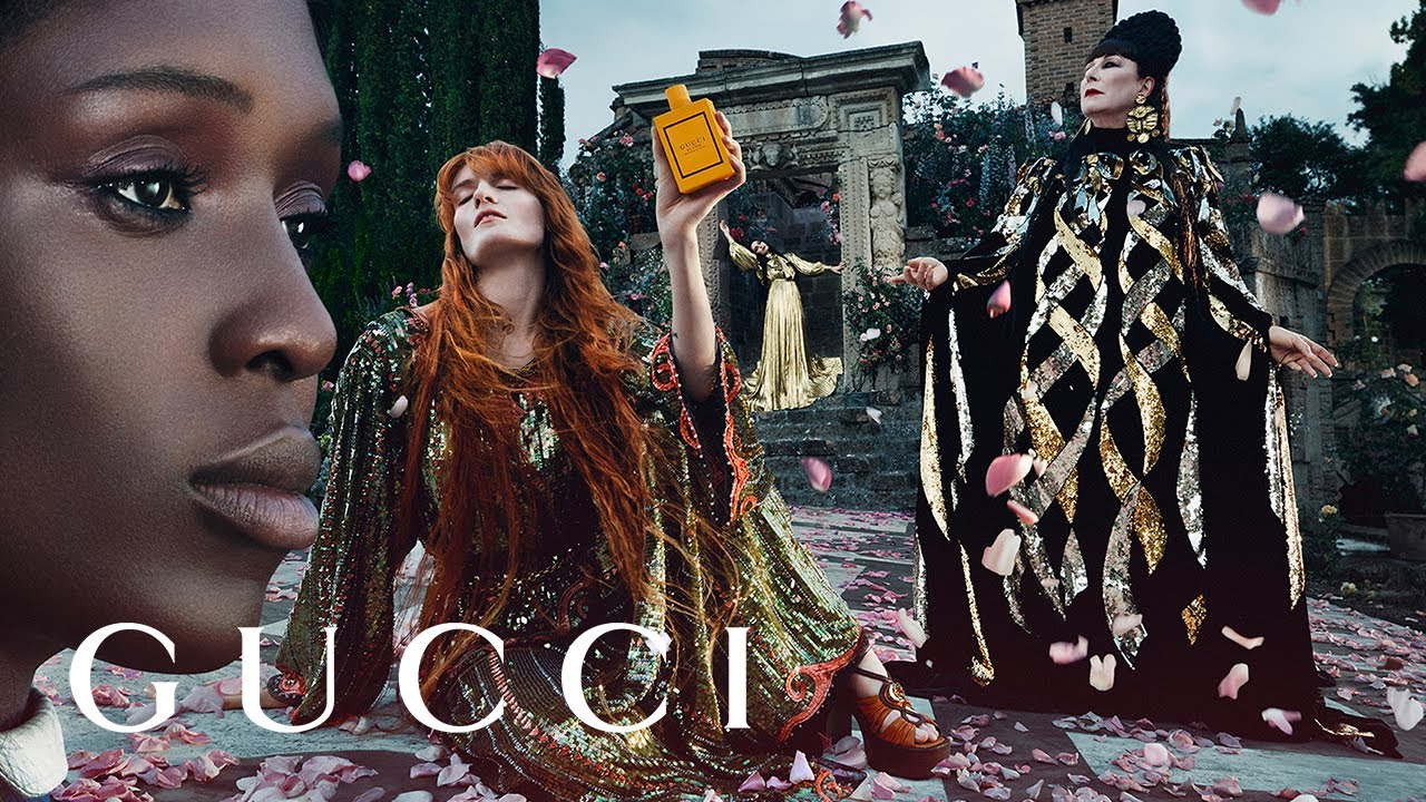 The New Gucci Bloom Campaign with Anjelica Huston, Florence Welch, Jodie Turner-Smith and Susie Cave