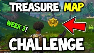 FORTNITE - Follow the Treasure Map found in Snobby Shores - WEEK 3 CHALLENGE - EASY GUIDE! TREASURE!