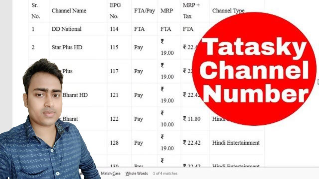 tata sky hd channel list