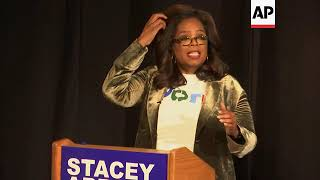 Oprah campaigns for Stacey Abrams in Georgia