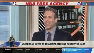 FIRST TAKE   Stephen A  Smith REACT to which team needs to prioritize offering KD the Max