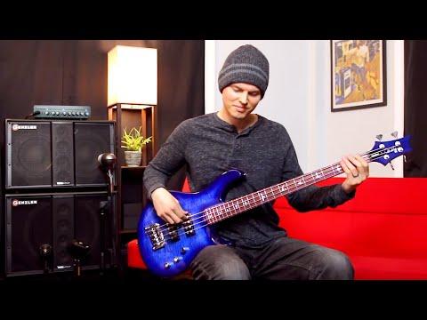 PRS SE Kingfisher Bass // Sound Demo (No Talking)