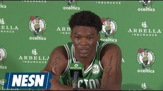 Robert Williams 2018 Boston Celtics Media Day Press Conference