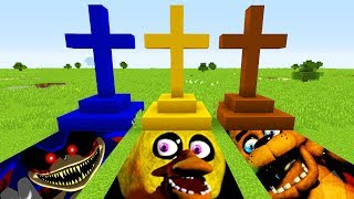 Minecraft : DO NOT CHOOSE THE WRONG GRAVE(SONIC.EXE,FREDDY FAZEBEAR, BENDY)(PS4/XboxOne/PE/MCPE)