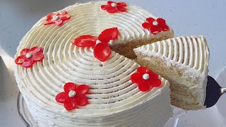 Простой бисквитный торт // Easy homemade cake