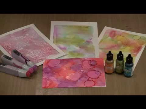 Studies In The Weird: Gel Press, Alcohol Inks, Hand Sanitizer by Joggles.com