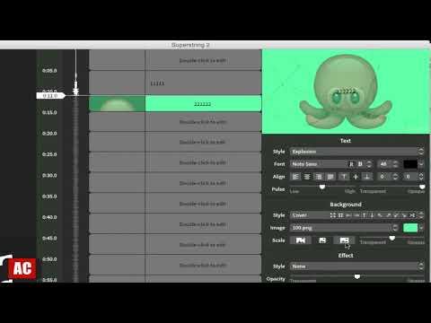 Create Lyric Videos on Mac-Superstring