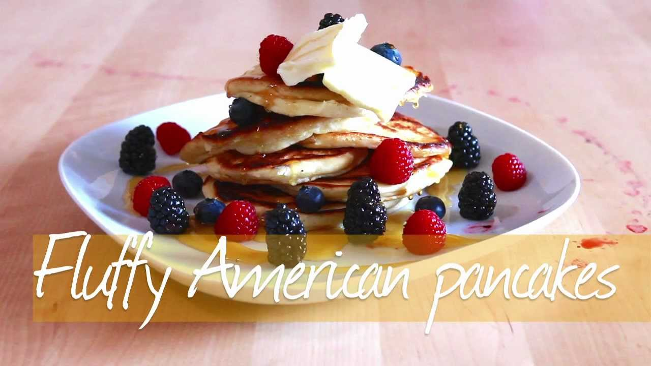 Fluffy american pancakes recipe allrecipes youtube ccuart Images