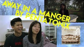 AWAY IN A MANGER by PENTATONIX | Reaction Video!