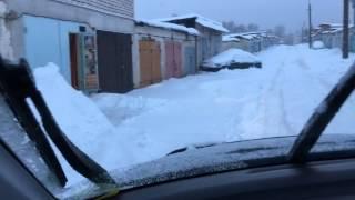 Honda CR-V летняя резина 4мм, против 38м снега тестдрайв