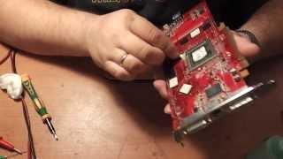 обзор ремонта видеокарты. Выводы