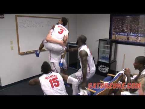 Gator Basketball: Postgame Locker Room - Wisconsin
