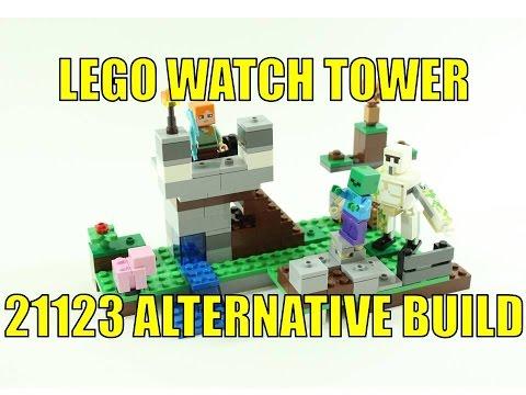 LEGO MINECRAFT 21123 ALTERNATIVE BUILD ALEX'S WATCH TOWER