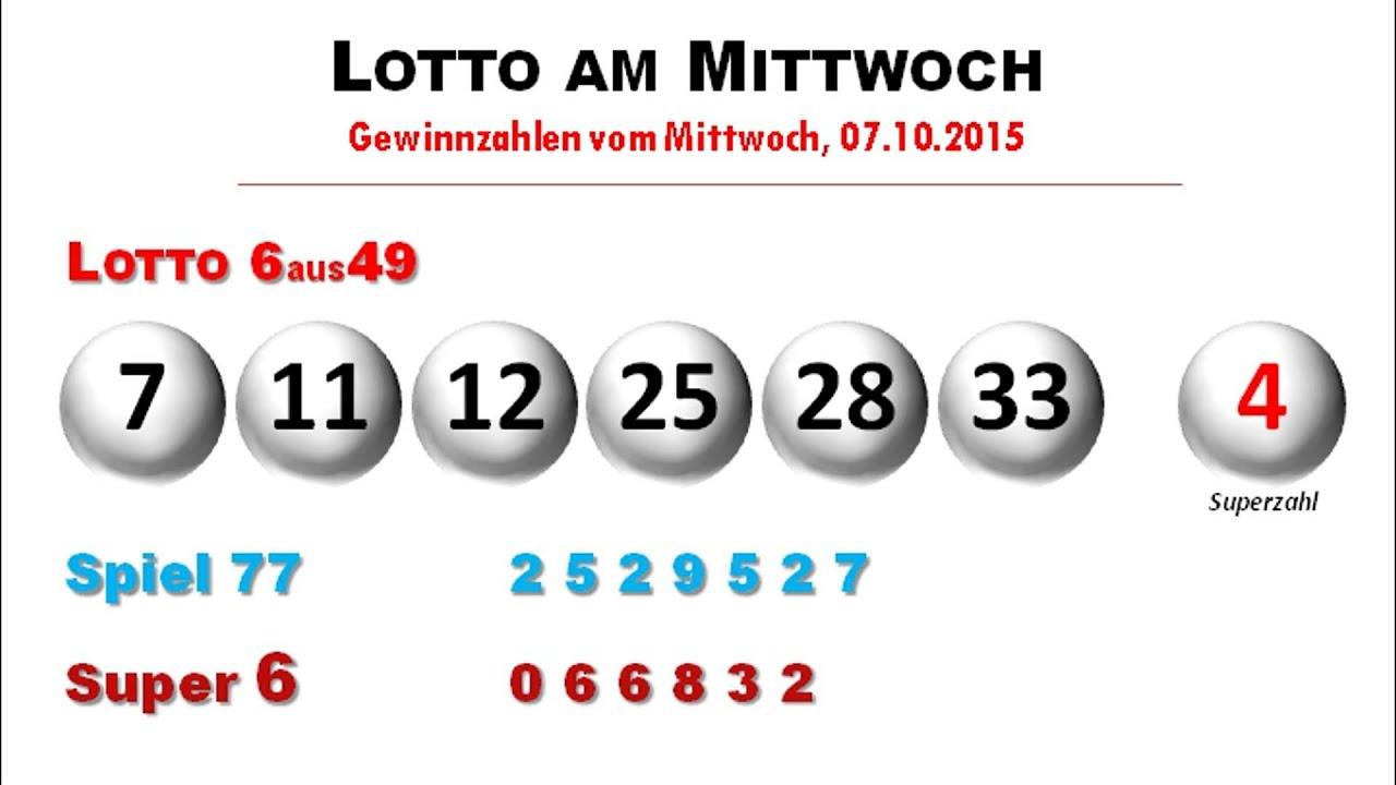 6aus49 Lotto Mittwoch