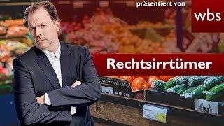 Müssen angefasste oder ausgepackte Lebensmittel gekauft werden? | Rechtsirrtümer RA Solmecke