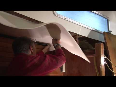 Installing a Foam Backed Headliner in a Boat