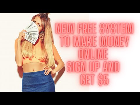 FREE New System to Make Money Online - Sign Up and Get Paid - Amazing!