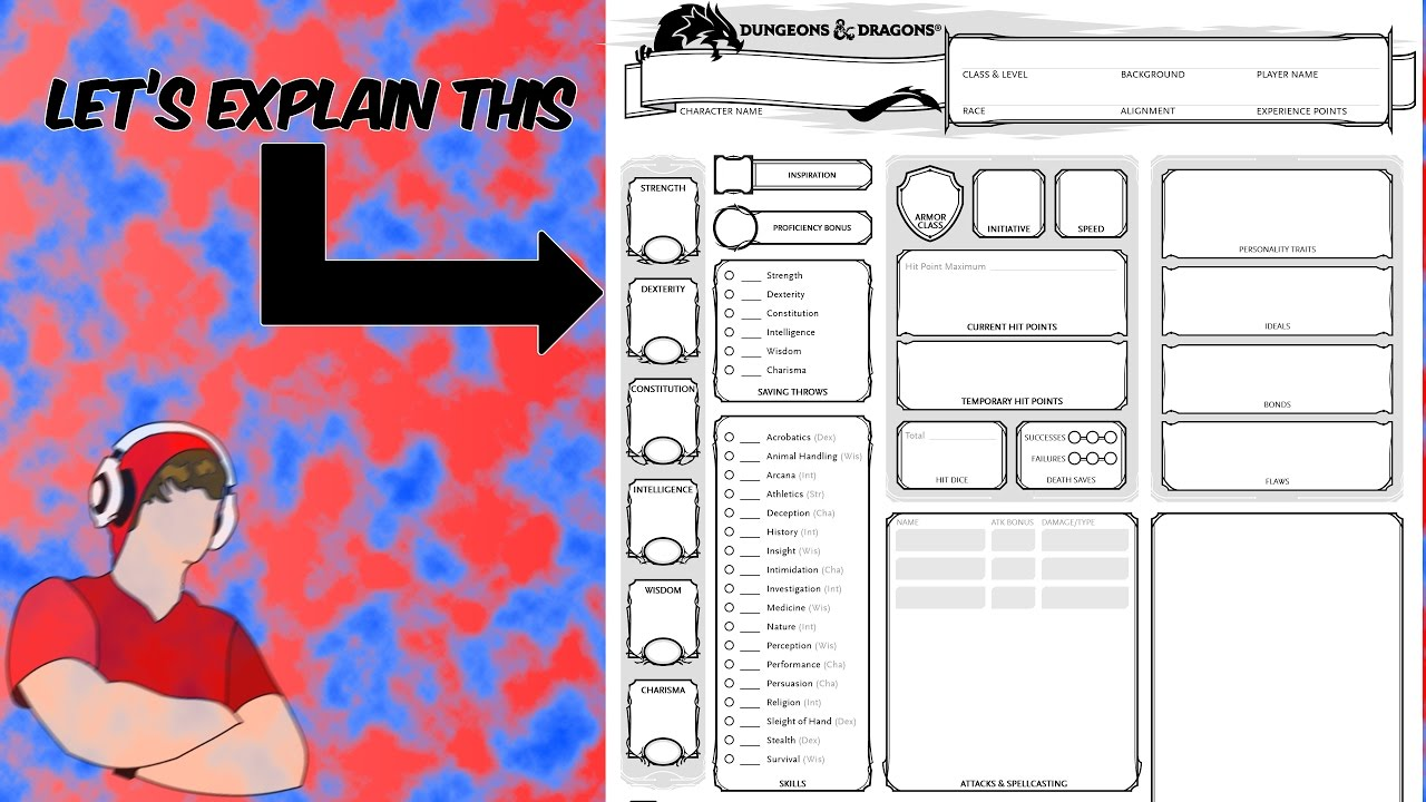 Let Me Explain: Dungeons and Dragons Character Sheets
