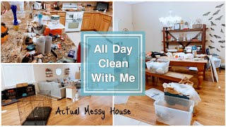 All Day Clean with Me! Actual Messy House
