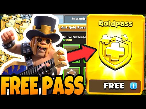 How to get the GOLD PASS for FREE in clash of clans (Party King) - august season