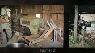 Wald und Scheuenfunde von Traktoren