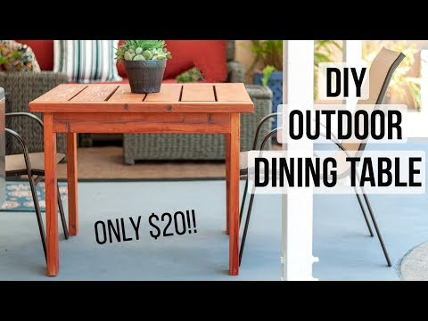 DIY Outdoor Dining Table - for $20!!! - How to make in a day!
