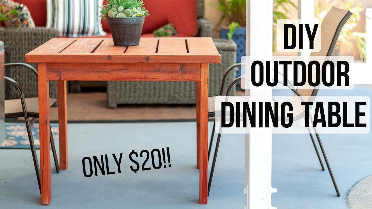 Diy Outdoor Dining Table For 20 How To Make In A Day