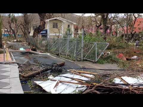 Hurricane Irma hit Cruz Bay Saint John Virgin Islands (the next day September 7th) 9:15 am Update