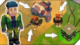 КЛОН LDOE - Игра Cube Survival LDoE. Квадратный громила и рейд базы