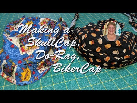 picture regarding Free Printable Doo Rag Patterns named Producing a SkullCap, Do-Rag, BikerCap - YouTube