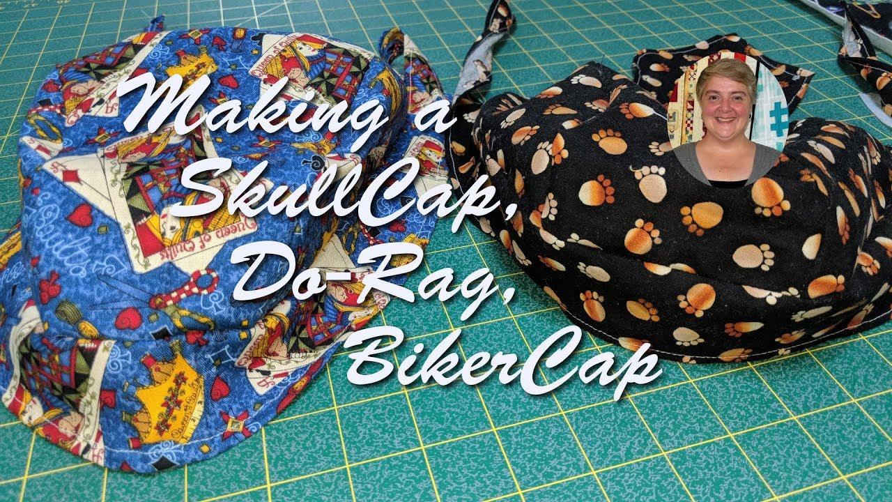photograph relating to Free Printable Doo Rag Patterns identify Developing a SkullCap, Do-Rag, BikerCap