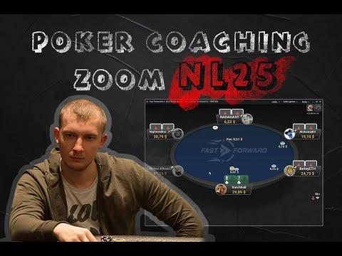 Coaching NL25 ZOOM cash. Обучающее видео по кэшу , советы и решения.