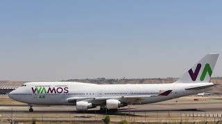 Video Boeing 747-400 Wamos Air from Cancun taxiing at Barajas Madrid download MP3, 3GP, MP4, WEBM, AVI, FLV Agustus 2018