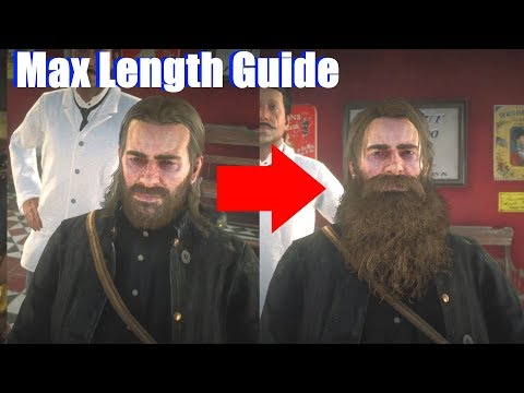 Red Dead Redemption 2 - How To Grow Beard To 10 / Max Length Beard Guide