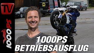 1000PS Betriebsausflug  - Wheelie fahren lernen. Motorrad Wheelieschule von Dirk Manderbach