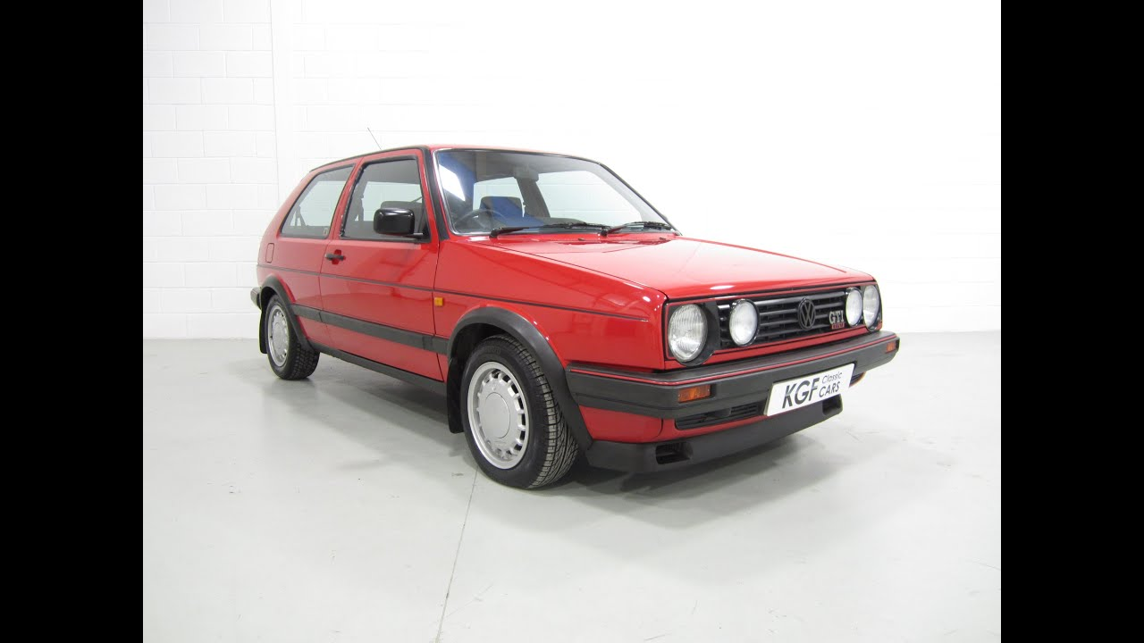 a legendary mk2 vw golf gti 16v 3dr with two owners full. Black Bedroom Furniture Sets. Home Design Ideas