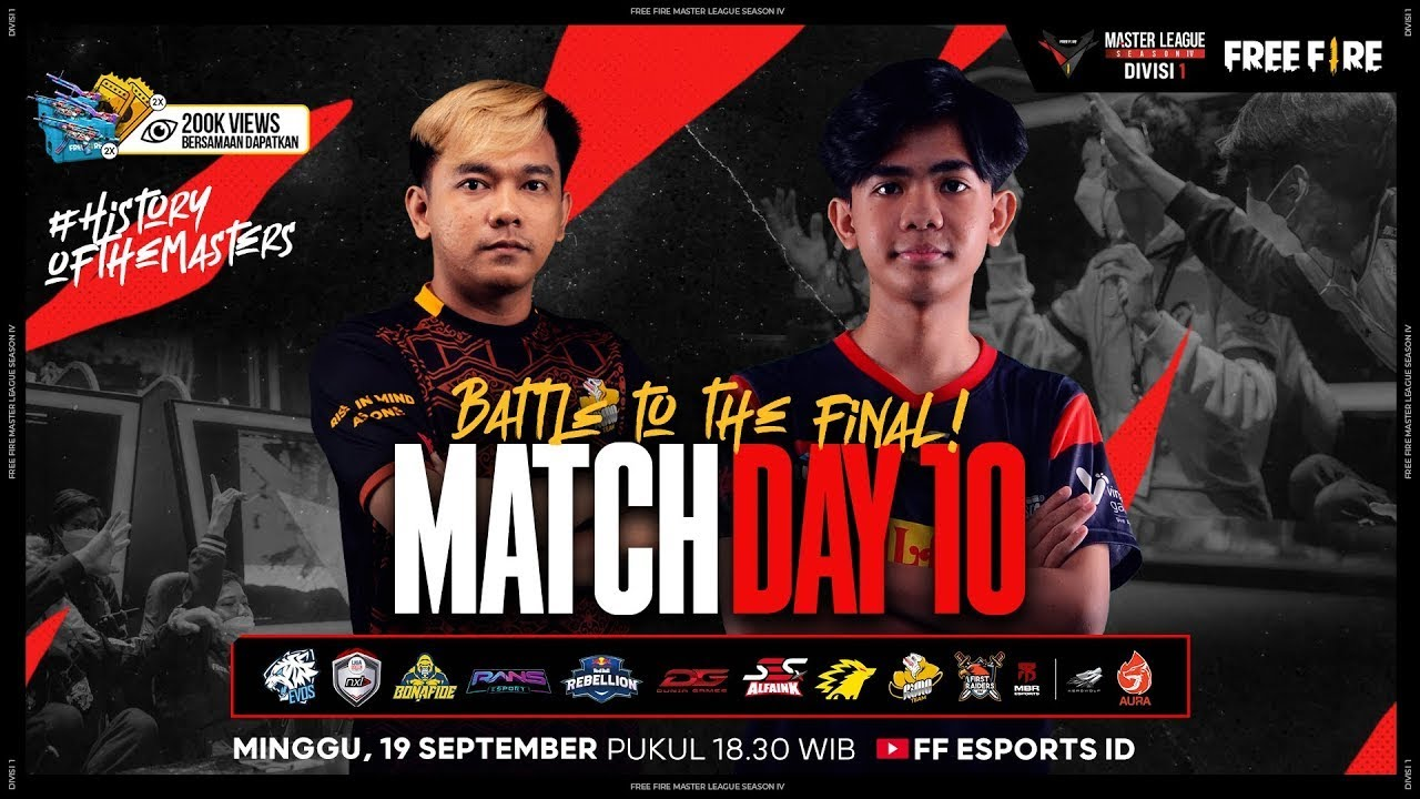 [2021] Free Fire Master League Season IV Divisi 1 - Match Day 10
