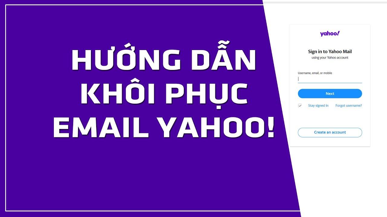 Hướng dẫn khôi phục mật khẩu Mail Yahoo