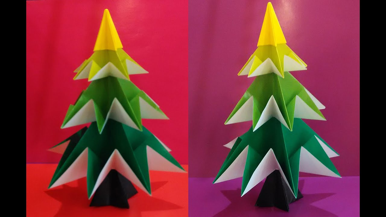 Easy origami christmas tree jo nakashima christmas for Decoration origami