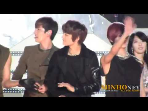 Dream Concert 2011 Minho with JoongKi, HoMin, Taemin