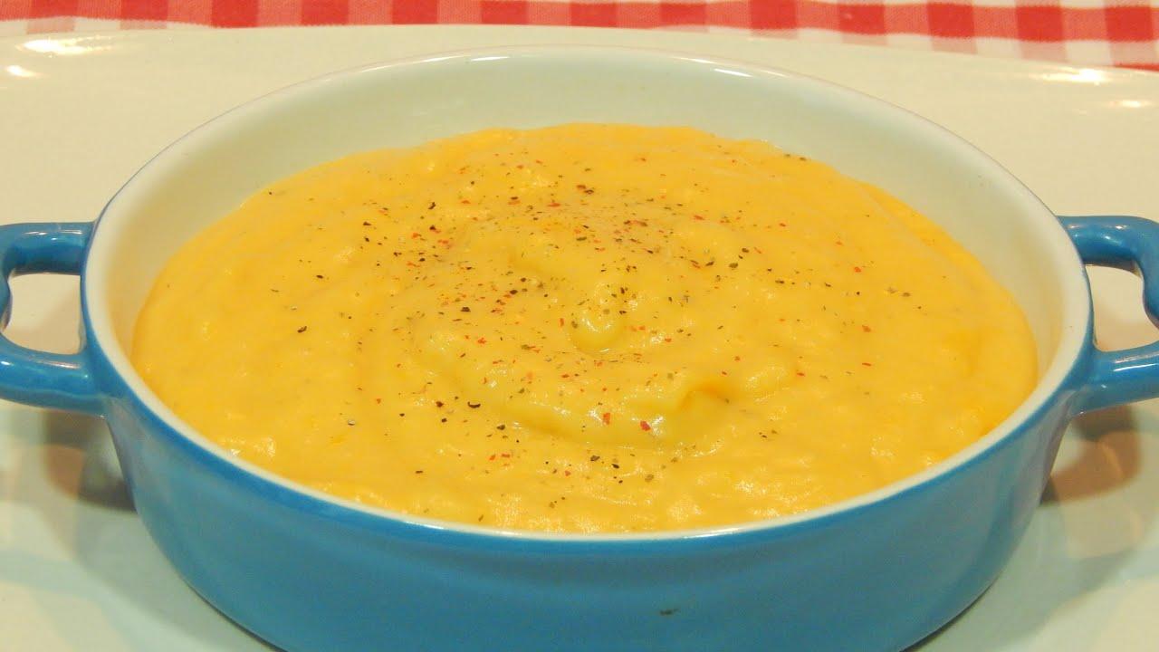 Pur de calabaza y patatas receta f cil youtube - Pure de patatas y calabaza ...