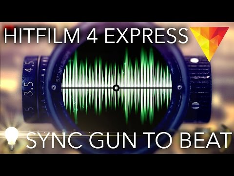 How to Sync Gunshots with Music (Gaming Montage) - Hitfilm 4 Express Tutorial