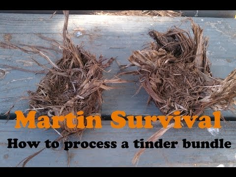How to Make A Tinder Bundle And Primitive Fire