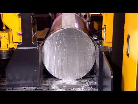 EVERISING E-530 Hi-Tech Band Saw Cutting SKD61 Tool Steel, Dia. 404 mm.
