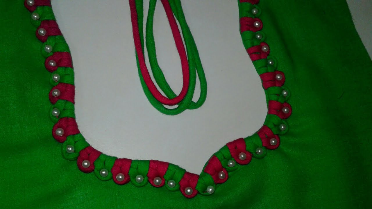 New Neck Design From Piping Dori And For Kameez And Blouse Youtube