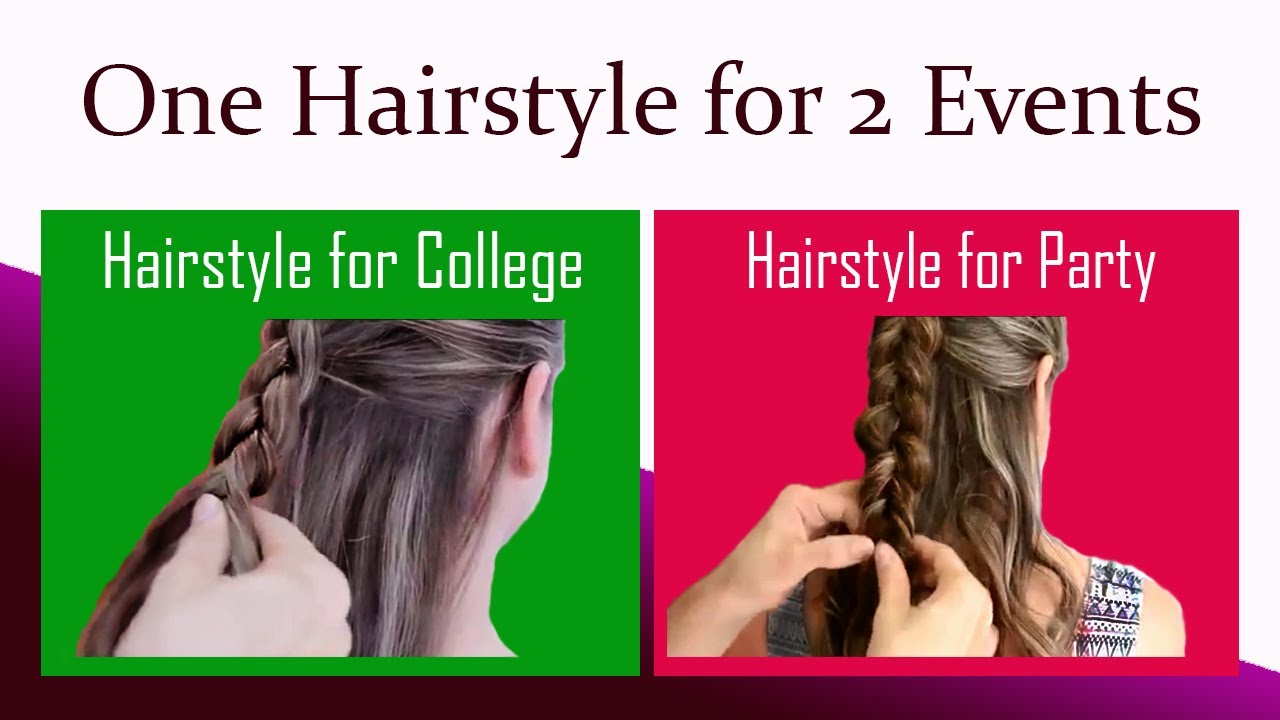 2 Cute Hairstyles For Long Hair College Party Muvicut